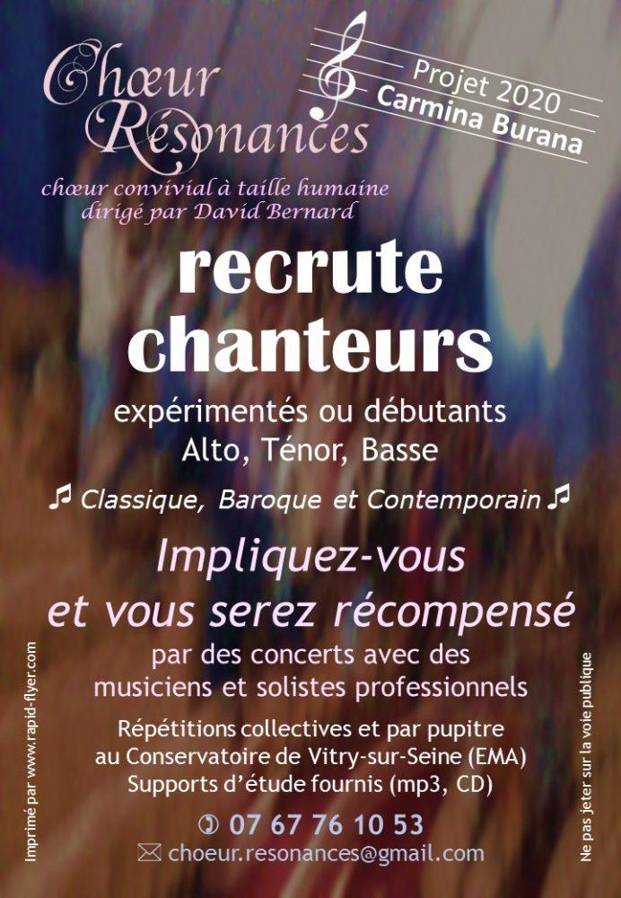 flyer Choeur Résonances